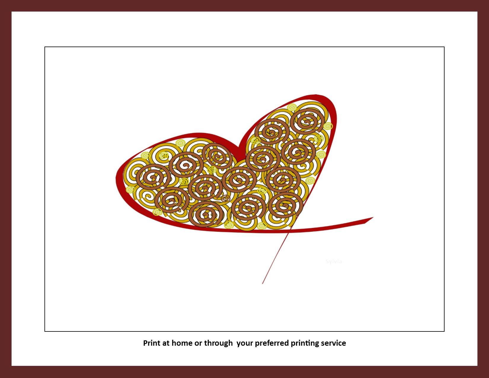 Heart Spirals Instant Download